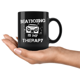 Beatboxing Is My Therapy 11oz Black Mug