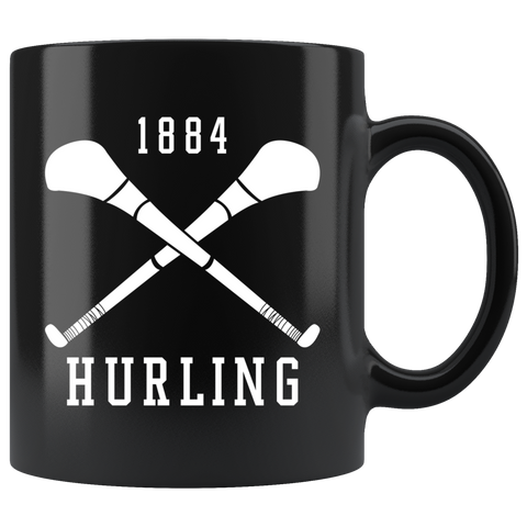 1884 Hurling 11oz Black Mug