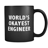 World's Okayest Engineer Black Mug