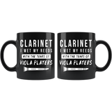 Clarinet I Wet My Reeds 11oz Black Mug - Custom