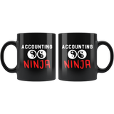 Accounting Ninja 11oz Black Coffee Mug for Accountant