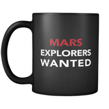 Mars Explorers Wanted Black Mug