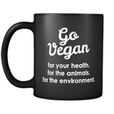 Go Vegan Mug in Black