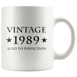 Vintage 1989 Aged To Perfection White Mug