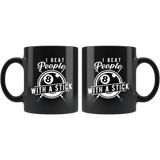 I Beat People With A Stick 11oz Black Mug