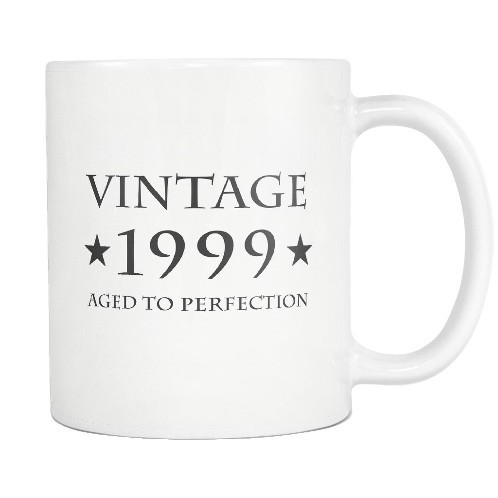 Vintage 1999 Aged To Perfection White Mug