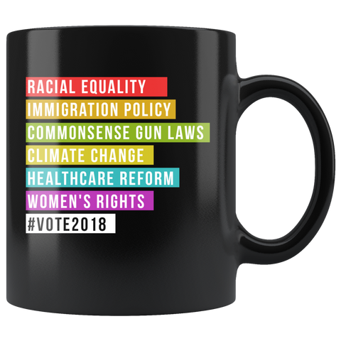 #Vote2018 11oz Black Mug