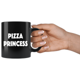 Pizza Princess 11oz Black Mug