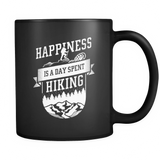 Happiness Is A Day Spent Hiking Black Mug