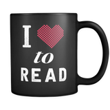 I Love To Read Mug in Black
