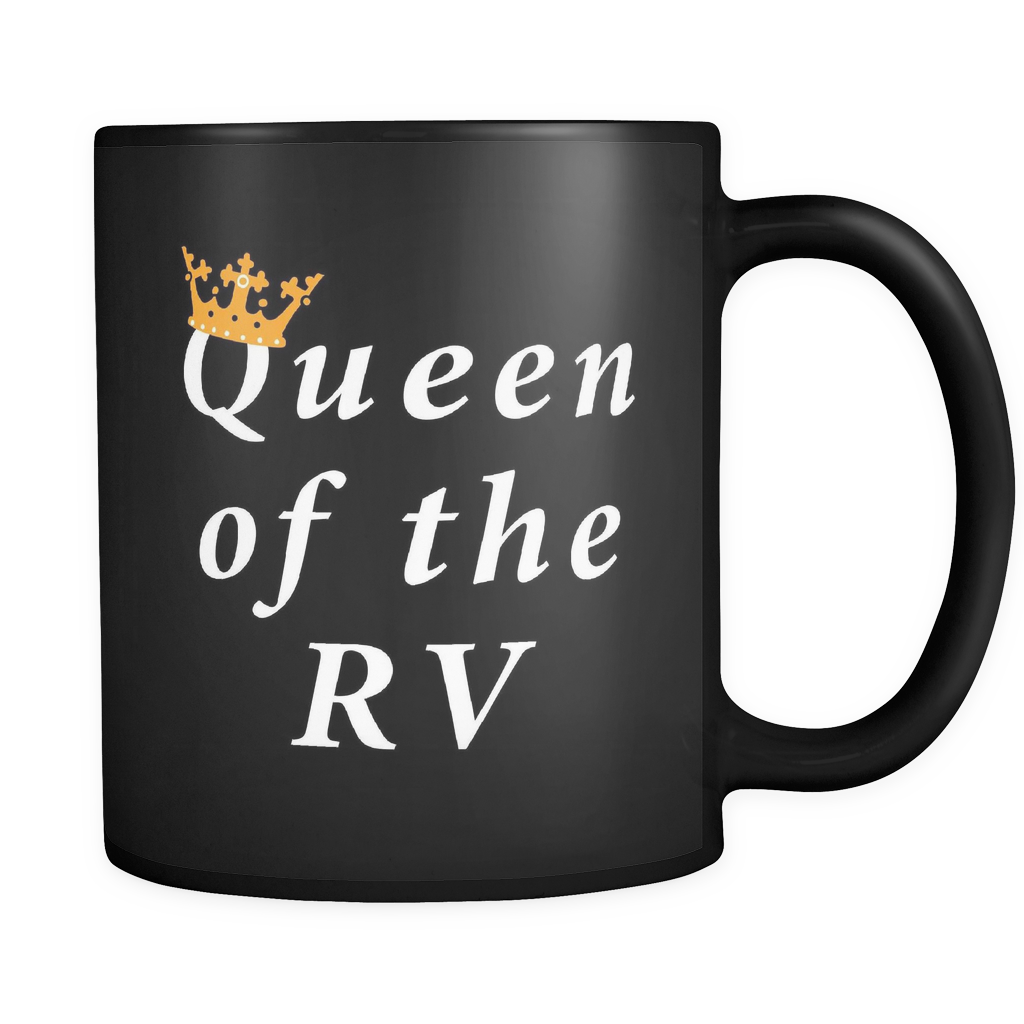 Queen of the RV Mug in Black