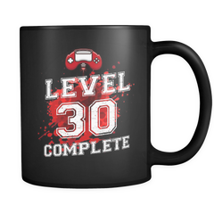 Level 30 - 30th Birthday Mug in Black