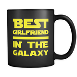 Best Girlfriend In The Galaxy Black Mug