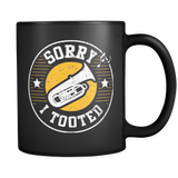 Sorry I Tooted Mug (Tuba Mug in Black)