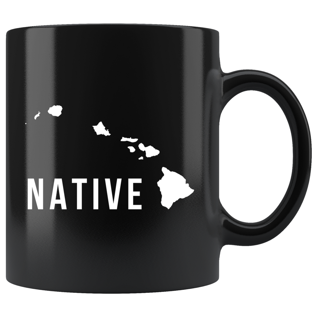 Native (Hawaii Islands) 11oz Black Mug