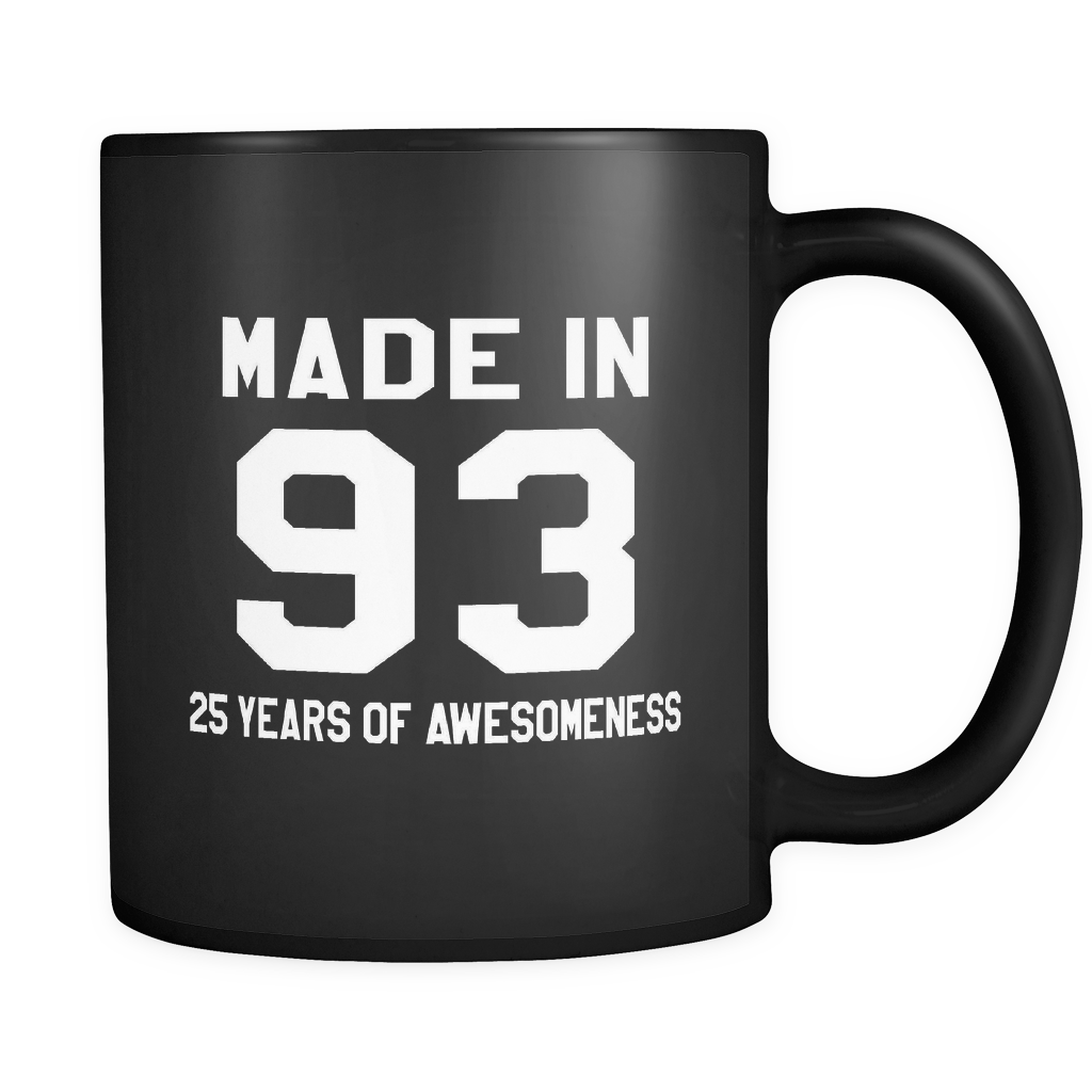 Made In 93 Black Mug