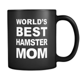 World's Best Hamster Mom Black Mug