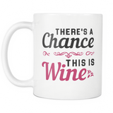 There's A Chance This Is Wine White Mug