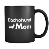 Dachshund Mom Black Mug