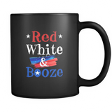 Red White And Booze Black Mug