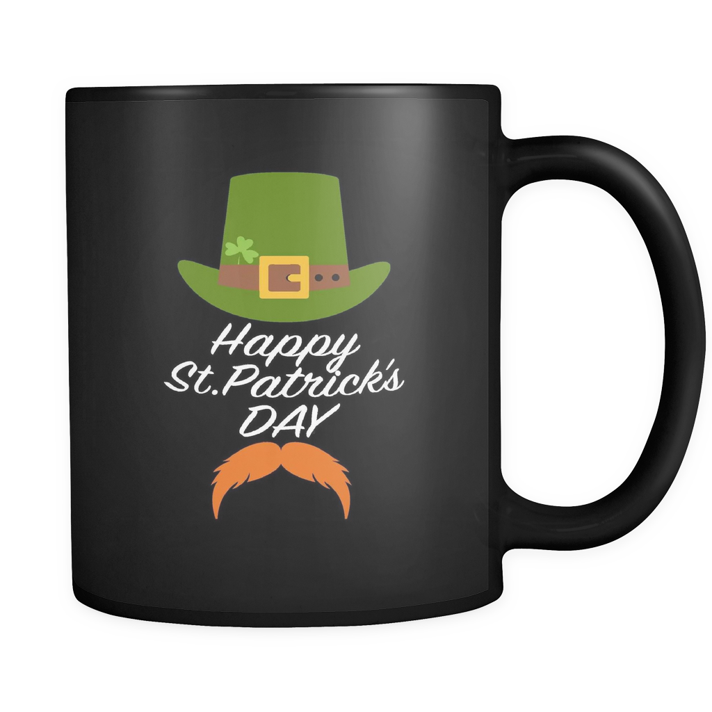 Happy St Patricks Day Mug in Black