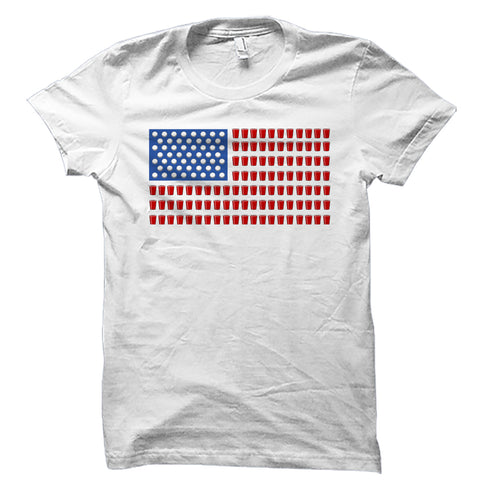 Beer Pong American Flag Shirt