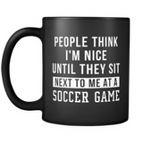 People Think I'm Nice Black Mug