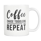 Coffee Chase Toddlers Repeat White Mug