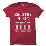 Country Music and Beer Shirt