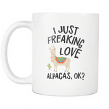 Love Alpacas White Mug