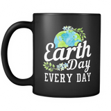 Earth Day Every Day Black Mug