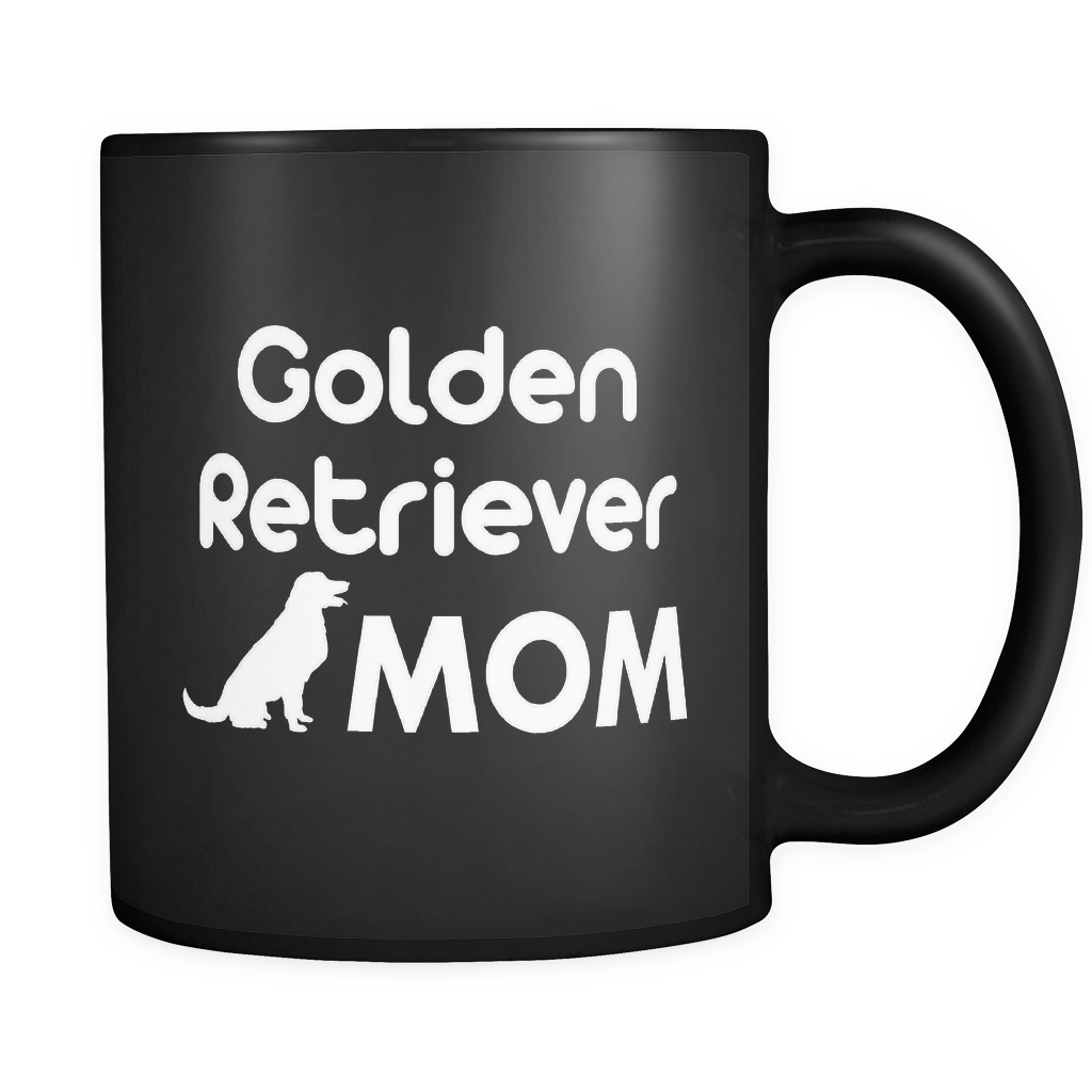 Golden Retriever Mom Black Mug