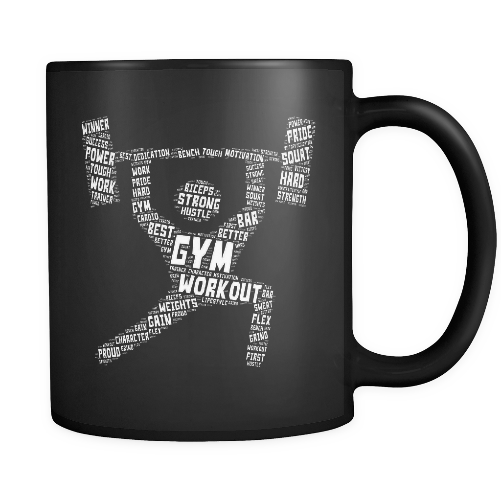 Gym Workout Black Mug