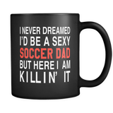 Soccer Dad Black Mug