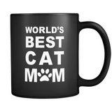 World's Best Cat Mom Black Mug