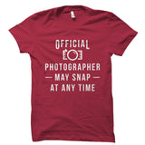 Official Photographer Shirt