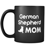 German Shepherd Mom Black Mug
