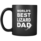 Lizard Dad Black Mug