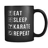 Eat Sleep Karate Repeat Mug