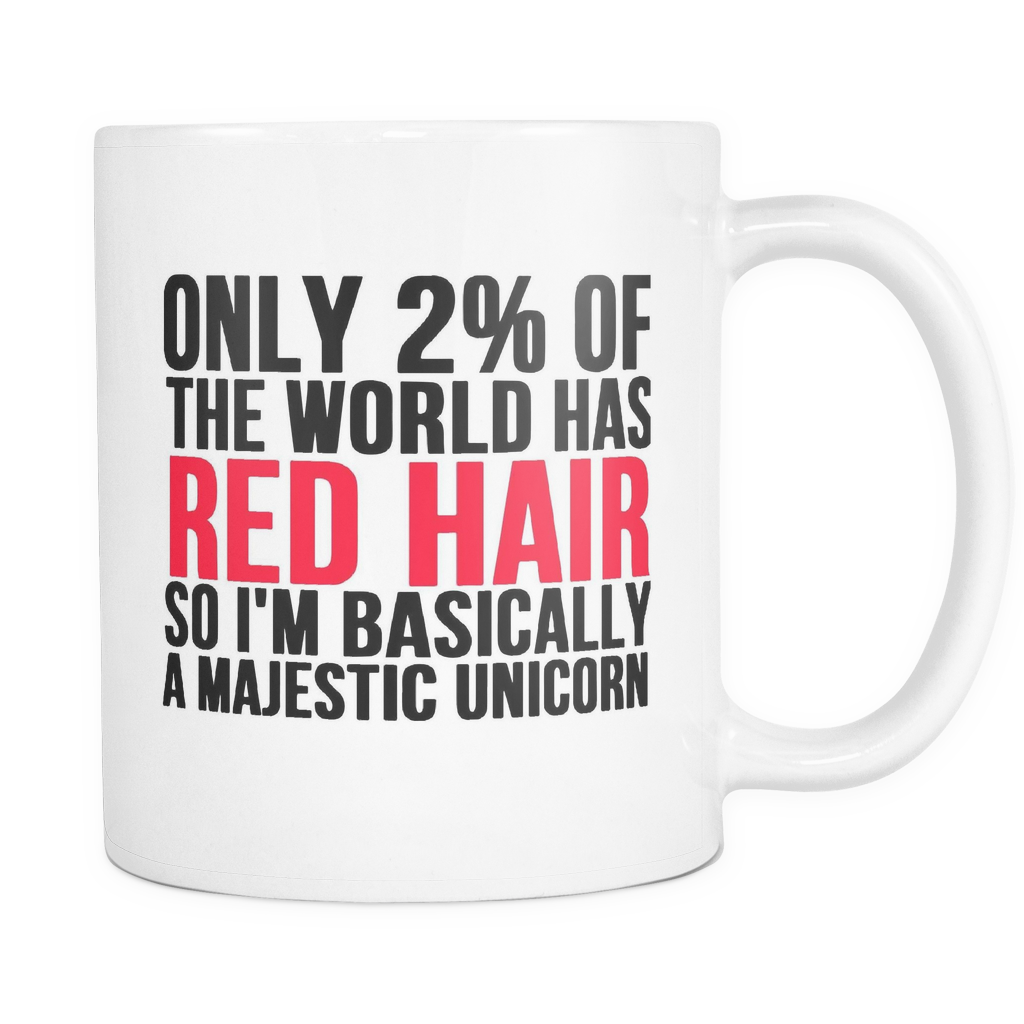 Only 2% Of The World Had Red Hair Unicorn Mug
