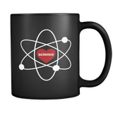I Love Science Black Mug