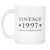 Vintage 1997 Aged To Perfection White Mug