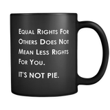 Equal Rights Black Mug