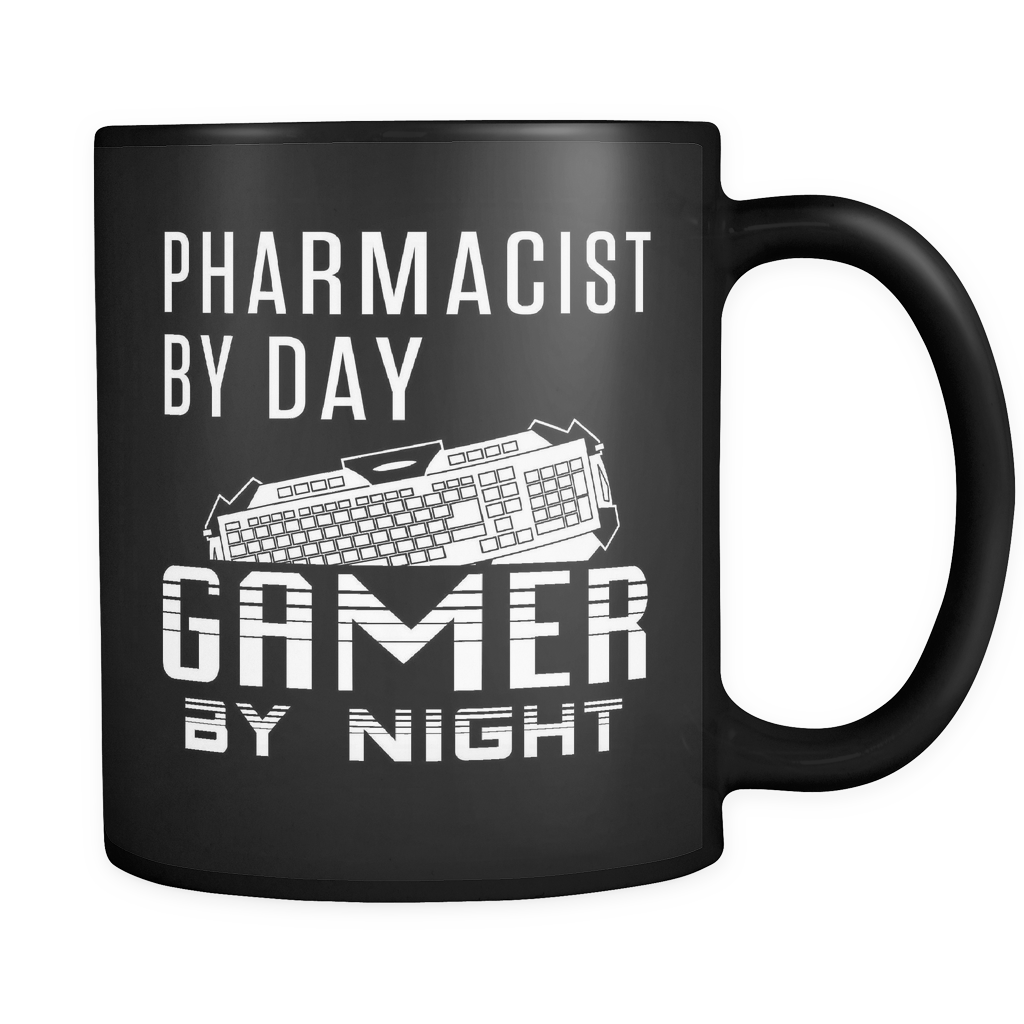 Pharmacist By Day Gamer By Night Black Mug