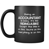 Being An Accountant Black Mug