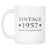 Vintage 1957 Aged To Perfection White Mug
