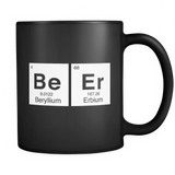 Beer Periodic Elements Black Mug - Funny Beer Lover Mug