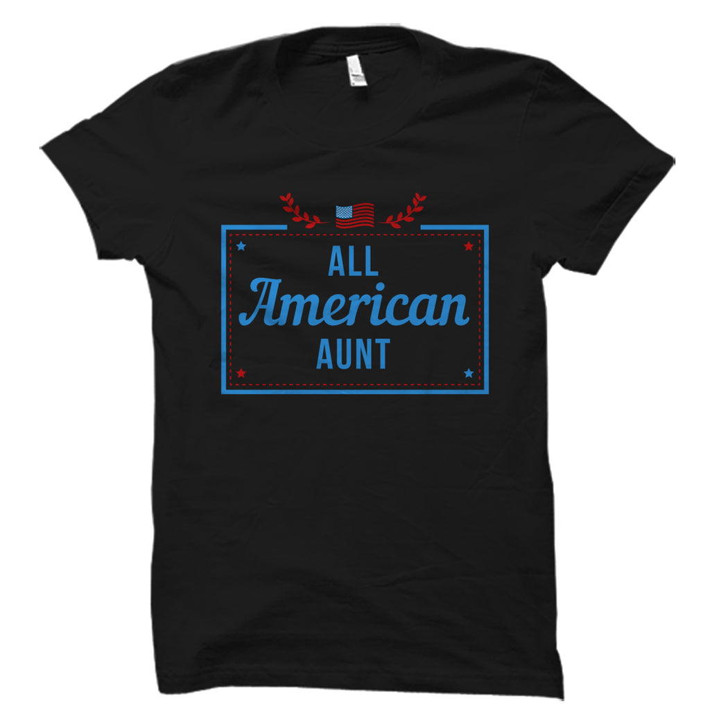 All American Aunt Black Shirt