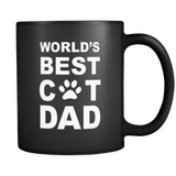 World's Best Cat Dad Black Mug