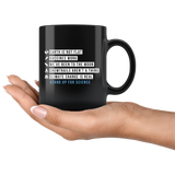 Earth Is Not Flat Stand Up For Science 11oz Black Mug